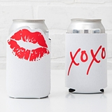 "Weddingstar ""XOXO"" Red Lips Design Neoprene Drink Holder"