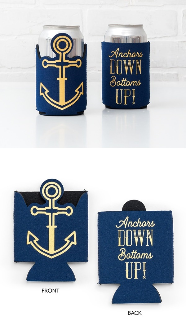 """Bottoms Up"" Anchor Design Neoprene Foam Drink Holder"