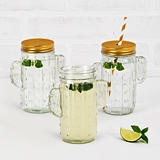 Weddingstar 12 oz. Cactus Mason Jar Drinking Glass - Clear