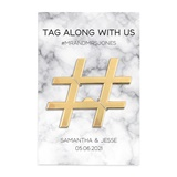 Tag Along with Us Gold Hashtag Bottle Opener with Personalized Backer