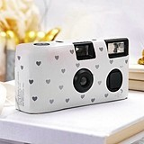 Weddingstar Single Use White and Silver Hearts Design Wedding Camera