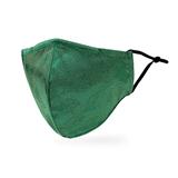 Luxury Washable Cloth Face Mask With Filter Pocket - Shimmer Leaf