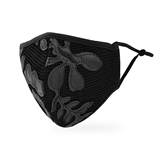 Luxury Washable Cloth Face Mask With Filter Pocket - Leather & Lace