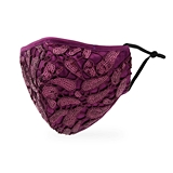 Luxury Washable Cloth Face Mask With Filter Pocket - Purple Garnet