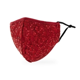 Luxury Adult Washable Cloth Face Mask With Filter Pocket - Ruby Red