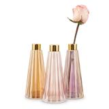 Weddingstar Tapered Pink-Colored Glass Bud Vases (Set of 3)