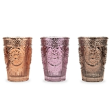 Weddingstar Pressed Glass Tealight & Votive Candle Holders (Set of 3)