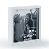 Personalizable Shadow Box Photo Frame - Block Font Etching (2 Colors)
