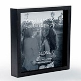 Personalizable Shadow Box Photo Frame Good Friends Etching (2 Colors)