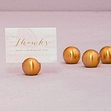 Weddingstar Classic Round Place Card Holders - Brushed Gold (Set of 8)