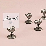 "Weddingstar ""Swish"" Heart Place Card Holders (Set of 8)"