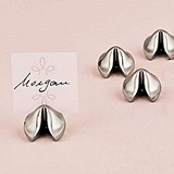 Weddingstar Silver Fortune Cookie-Shaped Place Card Holders (Set of 8)