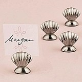 Weddingstar Silver Sea Shell-Shaped Place Card Holders (Set of 8)