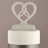 Weddingstar Heart-Framed Trinity Knot Cake Top