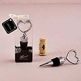 Weddingstar Stylized Heart-Shaped Chrome-Plated Bottle Stopper