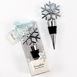 Weddingstar Snowflake-Shaped Chrome-Plated Bottle Stopper