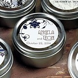 Round Tins w/ Clear Top Lids & Floral Orchestra Stickers (Set of 8)