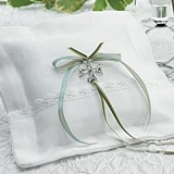 Weddingstar Celtic Charm Square Linen Ring Pillow