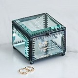 Weddingstar Personalizable Vintage-Inspired Glass Jewelry Box