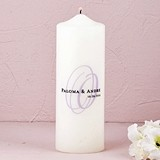 Modern Monogram Personalized Unity Candle (6 Initial Colors)