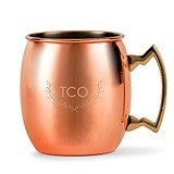 Weddingstar Moscow Mule Mug - Woodland Monogram Etching