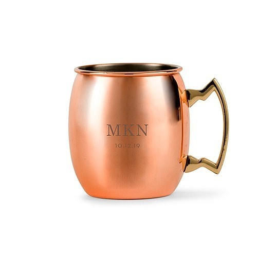 Weddingstar Personalized Moscow Mule Mug with Classic Initials & Date