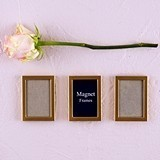 Matte-Gold Magnet-Backed Miniature Photo Frames (Set of 3)