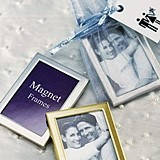 Brushed Silver Magnet-Backed Miniature Photo Frames (Set of 3)
