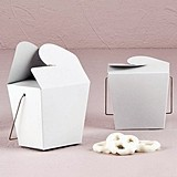 Weddingstar White Replica Chinese Takeout Boxes (Set of 6)