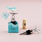 Weddingstar Starfish-Topped Chrome-Plated Bottle Stopper