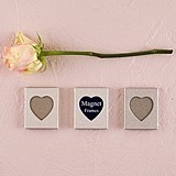 Miniature Magnet-Backed Heart-Cutout Aluminum Photo Frames (Set of 3)