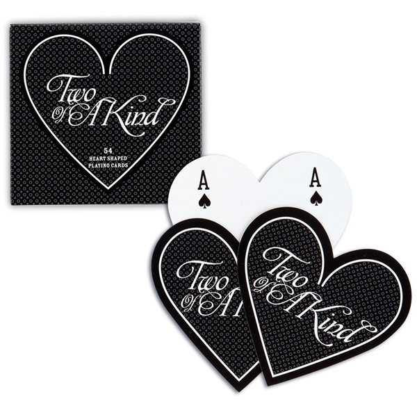 "Weddingstar ""Two of a Kind"" Heart-Shaped Playing Cards"