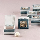 Weddingstar Beach-Themed Wooden Trinket Boxes (Set of 12)