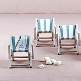 Personalizable Mini Folding Beach Chairs/Place Card Holders (Set of 8)