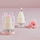 Weddingstar Elegant Three-Tier Lace Wedding Cake-Shaped Candle