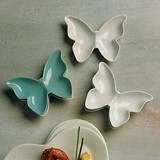 Weddingstar Ceramic Butterfly-Shaped Dishes (4 Colors) (Set of 6)