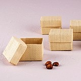Weddingstar Natural Woven Favor Boxes with Lids (Set of 6)