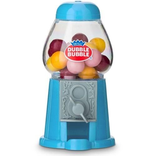 Mini Classic 'Dubble Bubble' Blue Gumball Dispensers (Set of 2)
