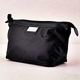 Personalized Black Nylon Shaving Travel Bag