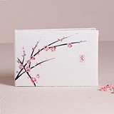 Weddingstar Cherry Blossom Motif Traditional Guest Book