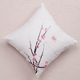 Weddingstar Cherry Blossom Motif Square Ring Pillow