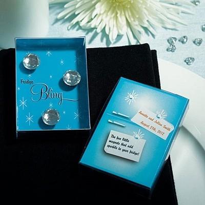 """""""Fridge Bling"""" Diamond Magnets in Gift Packaging"""