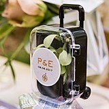 Vintage Travel Themed Personalized Mini Travel Trolleys (Package of 6)