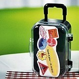 Personalized Miniature Suitcases with Wheels and Handle (Package of 6)