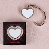 """Hooked on Love"" White Heart-Shaped Purse Hook in Gift-Box"