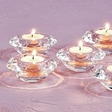 Weddingstar Glamorous Faceted-Crystal Tealight Holders (Set of 6)