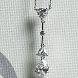Weddingstar Cubic Zirconia Pear Drop Jewelry Pendant Necklace