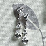 Weddingstar Cubic Zirconia Pear Drop Jewelry Earrings