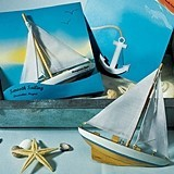 """Smooth Sailing"" Sailboat Magnet Gift Favor (Set of 6)"