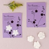 Seed Paper 'Love Blossoms' Personalized Favor Cards (Set of 12)